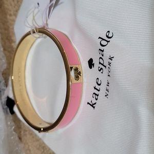 Brand new Kate spade pink enamel bangle